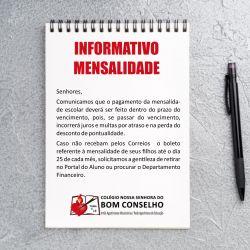 Informativo – Boleto