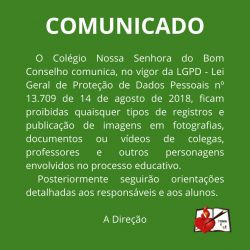 Comunicado LGPD